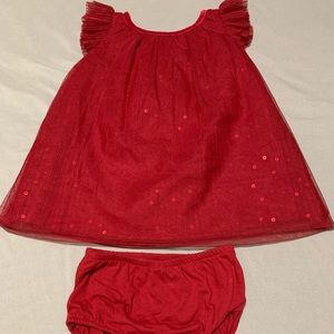 Cat & Jack baby girl red formal dress